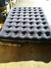 BLUE TWIN INFLATABLE MATTRESS WITH PUMP & CHARGER GOOD PRE-OWNED CONDITION