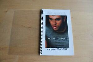 Enrique Iglesias  - Tour ITINERARY - European Tour 2000