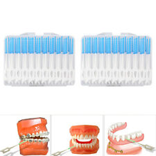 80X Brosse Cure Dents Brossette Interdentaires Dentaire Nettoyage Toothpick Oral