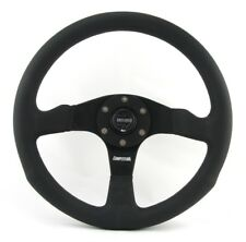 Momo Cuir troué Sport Volant Competition 350 mm Noir Black Steering Wheel V