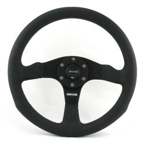Momo Leder gelocht Sportlenkrad Competition 350mm schwarz black steering wheel v