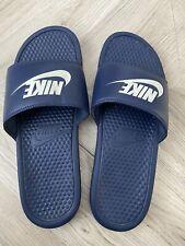 Men's Nike Navy Sliders, Size 10