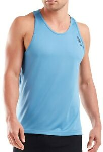 2XU GHST Mens Running Vest - Blue