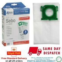 SEBO VACUUM CLEANER X1 X4 EXTRA PET UPRIGHT CLOTH DUST BAGS x 5 PER PACK