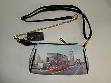 "6"" x 10"" London's Westminster Bridge Big Ben Faux Leather Crossbody NWT"
