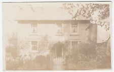 AN UNIDENTIFIED HOUSE - c1910s era Real Photo postcard - halfpenny postage rate