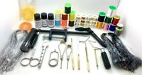 Olympian Fly Tying Tools, Materials Kit with Tinsel,Floss, Thread, Glue,UV Torch