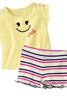 Gymboree Cape Cod Cutie 2T Yellow Smiley Face Tee & Striped Cotton Shorts Set 11