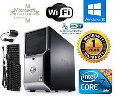 Dell Precision T1500 Computer i7 870 2.93ghz 4gb 2TB WINDOW 10 PRO 32 FX 580