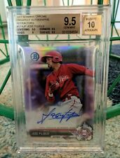 2017 Bowman Chrome Jose Pujols Refractor #/499 BGS 9.5 Auto 10 Phillies Gem Mint