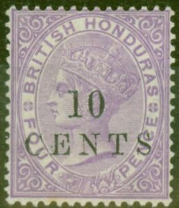 British Honduras 1888 10c on 4d Mauve SG40 V.F MNH