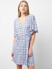 Gap Softspun Flutter Sleeve Mini Dress, sz XL Spring 2018 Navy Print