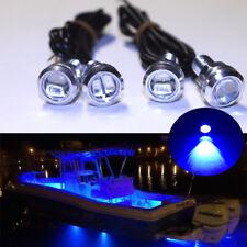 4x Blue LED Boat Light Silver Waterproof Underwater KAWASAKI STX-15F Jet Ski