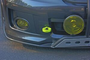 Perrin Neon Yellow Front Tow Hooks Kit for 2008-2014 Subaru WRX and STI