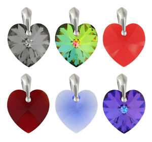 Sterling Silver Pendants made with 6228 17.5mm Heart Swarovski® Crystals