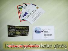 250 profesionell gedruckte Visitenkarten doppelseitig
