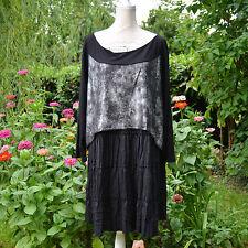 Tunique Robe Femme Grande Taille 54 56 Noir gris BUTLER ZAZA2CATS new