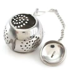 Teapot Shape Stainless Steel Leaf Tea Infuser Filter Strainer Chain Ball Sliver