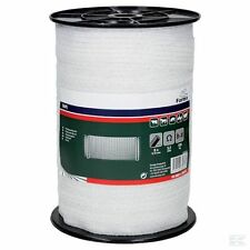 ELECTRIC FENCE POLY TAPE - 40mm White 200m Roll Fencing Horse Grazing
