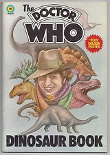 The Doctor Who Dinosaur Book (1976, Target) pb 1st Fn (poster still attached)