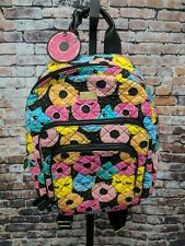 BETSEY JOHNSON Luv Backpack Donut Cat Face School Travel Quilted Weekender NEW