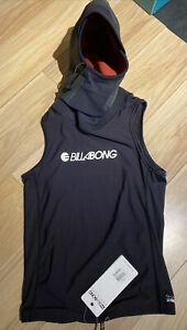 NWT Billabong Mens Wetsuit Hood w/Attached Thermal Vest size Small Retail $59.50