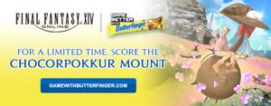 Butterfinger receipt for FF14 Chocorpokkur