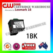 1 x Lexmark 16 Ink Cartridge BK for Lexmark X1140 X1150 X1250 X1200 X1270 X1290