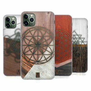 HEAD CASE GEOMETRIC WOOD PRINTS GEL CASE & WALLPAPER FOR APPLE iPHONE PHONES