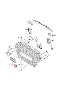 Genuine AUDI A3 Cabriolet radiator grille 8V5853651B1QP