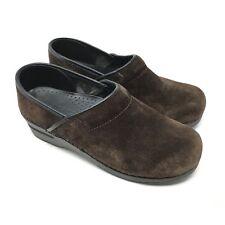 Women's Sanita Size 39 EU/8-8.5 Clogs Shoes Brown Suede Nursing Professional Y11
