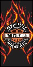 Harley Davidson Fire & Oil Beach Towel