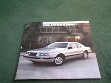 1986 FORD THUNDERBIRD USA BROCHURE - STANDARD / ELAN / TURBO