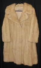 Vtg. Mink Fur Coat Blonde Color Very Nice Gerhardt Kansas City Medium