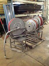 Hannay Stainless Steel Hose Reel, Stand, Hose, & Nozzel Spring Rewind