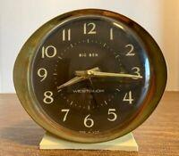 Mid Century Vintage Westclox Big Ben Alarm Clock Wind Up Model 10040 USA WORKS