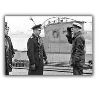 """War Photo Commander U-61 Konteadmiral Karl Dönitz WW2 Glossy Size """"4 x 6"""" inch W"""