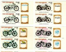 NICARAGUA - MOTORCYCLES - IMPERF COMPLETE SET IN PAIRS - Sc 1419/25 - 1985 RRR