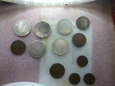 beau lot de monnaies en argent Cérès et semeuse et bronze de qualité
