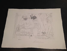 """Picasso """"Suite Vollard"""" Bloch #217, Limited Edition, Picasso Family Authorized."""