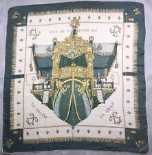 """Authentique foulard Hermès """" Vu du Carrosse de la Galère la  Réale """""""