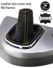 Engranaje de cuero de grano superior de costura Amarillo Polaina se ajusta Mitsubishi Grandis 2004-2011