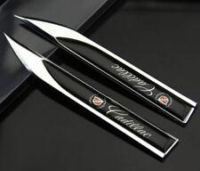 2x Cadillac motors blade decal landmark 3D Logo Emblems Badge car metal stickers