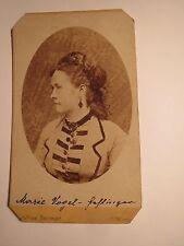 Wien - 1873 - Marie Vogel - Hahlinger ? als schöne Frau - Portrait / CDV