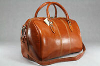 Genuine Italian Leather Duffle Gym Weekend Travel Overnight Bag Holdall Luggage