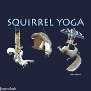 Squirrel Yoga T shirt Cotton S M L XL XXL NWT Blue Gildan