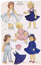 "1983 Vintage Slender Mini-Doll Pattern-Size 7.5""-8""-Korean War Year 1955"