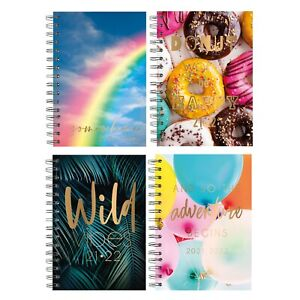 2021-2022 A5 Week to View Academic Diary Hardback Spiral Student Teacher Diary