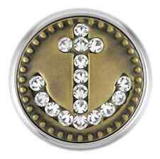 Buy 4, Get 5Th $6.95 Snap Free Ginger Snaps™ Brass Anchor with Stones Sn21-25