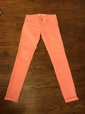 Lola highway Jeans  27x30 PEACHY PINK ANKLE SKINNY JEANS 0